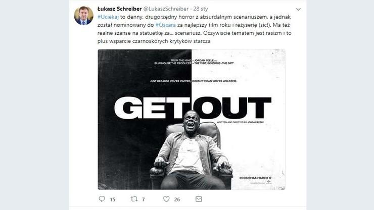 """Poseł PiS krytykuje jedną z nominacji do Oscara: rasizm i """"wsparcie czarnoskórych krytyków"""" wystarczą"""