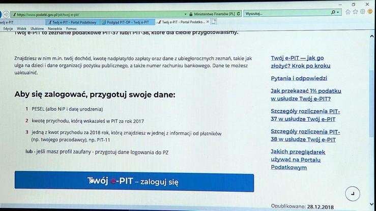 Urząd Ochrony Danych Osobowych prowadzi postępowanie wobec ministerstwa finansów ws. e-PIT