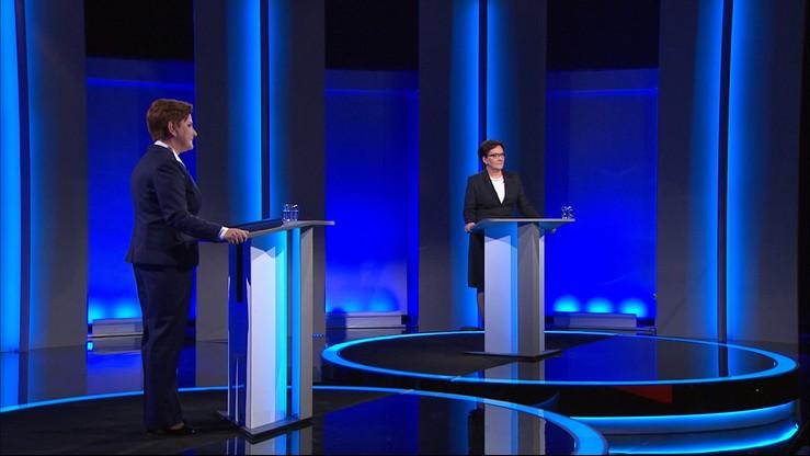 Kopacz i Szydło podsumowują debatę