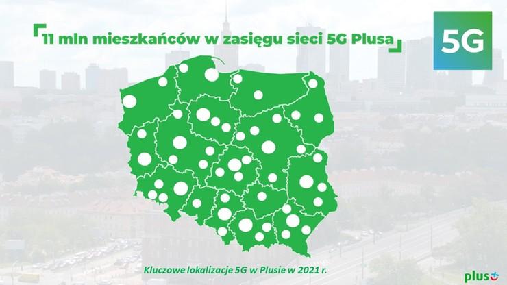 Plus poszerza zasięg 5G. W zasięgu ponad 7 mln mieszkańców Polski