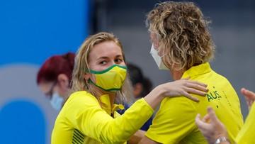 Tokio 2020: Trener australijskiej pływaczki oszalał ze szczęścia! (WIDEO)
