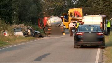 Zarzuty dla kierowcy cysterny z mlekiem, który spowodował śmiertelny wypadek