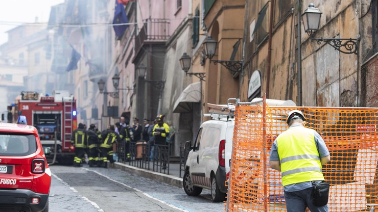 Wybuchu gazu w centrum miasteczka pod Rzymem. 16 osób rannych