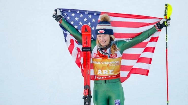 Alpejskie MŚ: Shiffrin po raz czwarty z rzędu najlepsza w slalomie