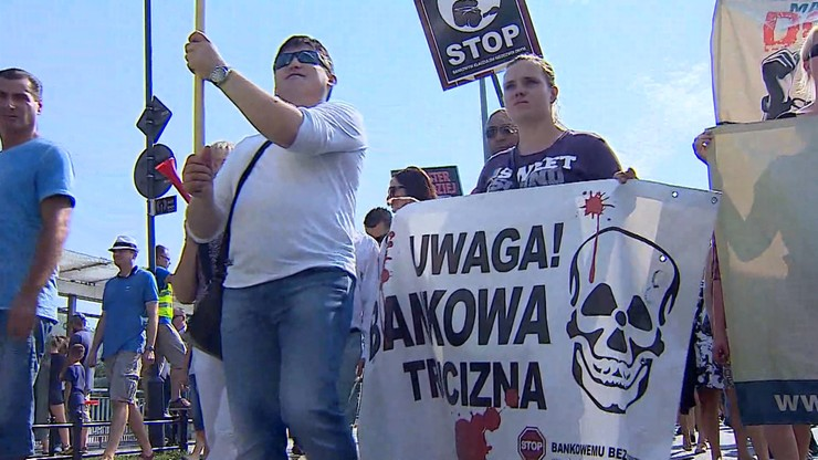 """Zero Haraczu!"" - protest kredytobiorców"