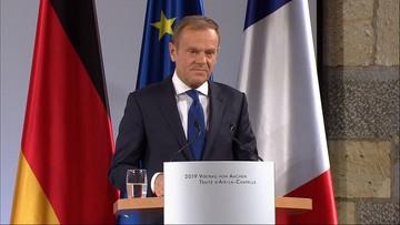 Tusk przypomina Adamowicza i apeluje do Merkel i Macrona o wzmocnienie Europy
