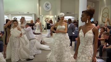 Konkurs sukni ślubnych wykonanych z papieru toaletowego. Zwycięzca dostał 10 tys. dolarów