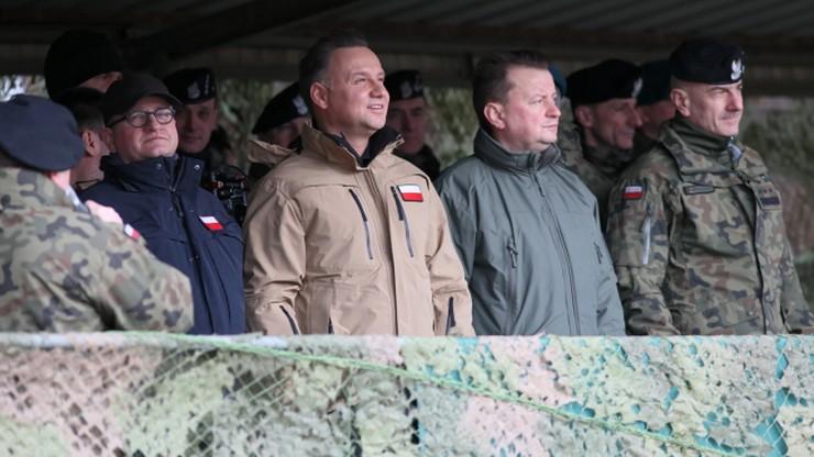 Prezydent i szef MON na poligonie w Żaganiu. Inauguracja obchodów 20-lecia obecności Polski w NATO