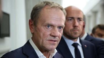 """Tusk przeprosił Kaczyńskiego. """"A teraz datę i miejsce debaty poproszę"""""""