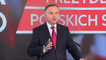 Duda: Chciałbym nadal prowadzić polskie sprawy. Dlatego kandyduję na prezydenta