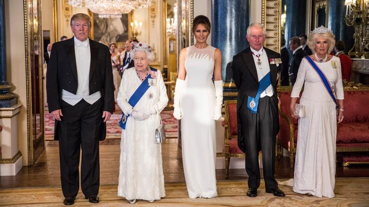"""Elżbieta II o szkockich korzeniach Trumpa, prezydent wznosi toast za """"wieczną przyjaźń"""""""