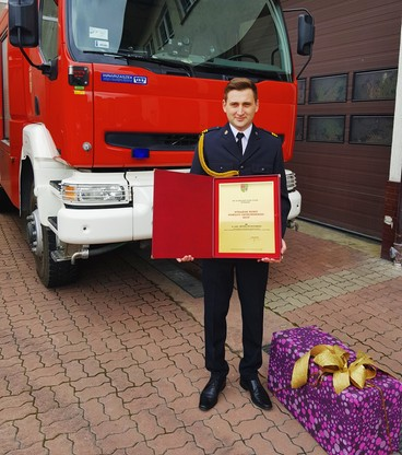 Artur odebrał nagrodę Strazaka Roku