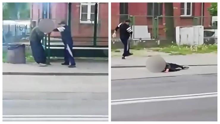 Pseudokibic pobił bezdomnego, jego koledzy nagrywali. Nikt nie zareagował