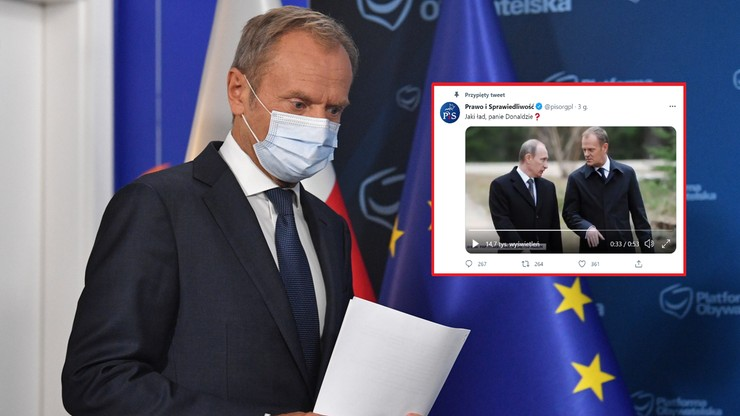 """Spot PiS o Tusku. """"Wie pan sporo o ruskim ładzie, sam go pan wprowadzał"""""""