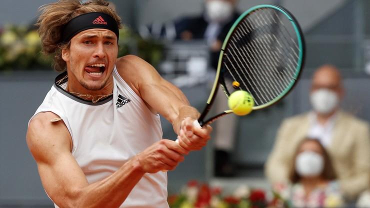 ATP w Madrycie: Alexander Zverev pierwszym finalistą