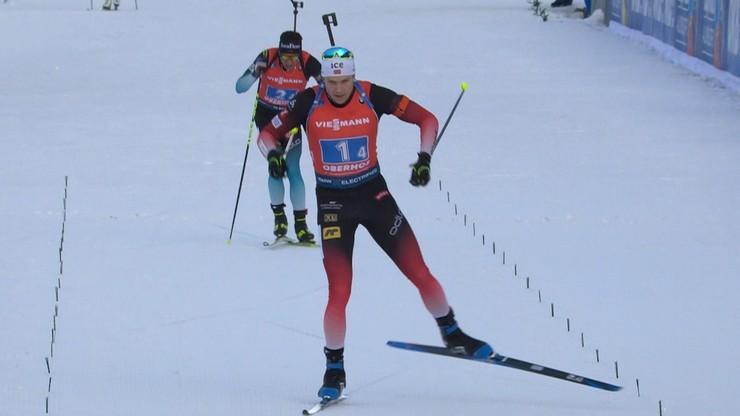 PŚ w biathlonie: Szósty z rzędu triumf Norwegów, Polska na 22. miejscu
