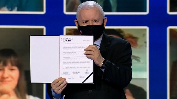 """""""Polski ład"""". Kaczyński o zmianach podatkowych i nakładach na zdrowie"""