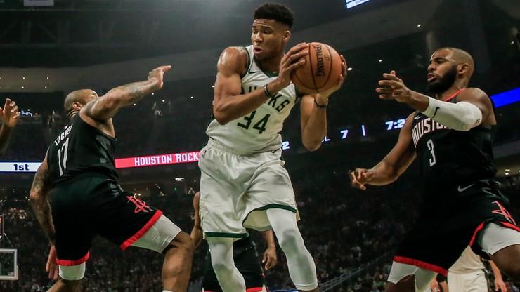 NBA: Bucks pokonali Rockets we wtorkowym hicie
