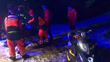 """Ratownicy GOPR uratowali narciarza, który zjechał z trasy. """"Został odnaleziony w głębokim śniegu"""""""