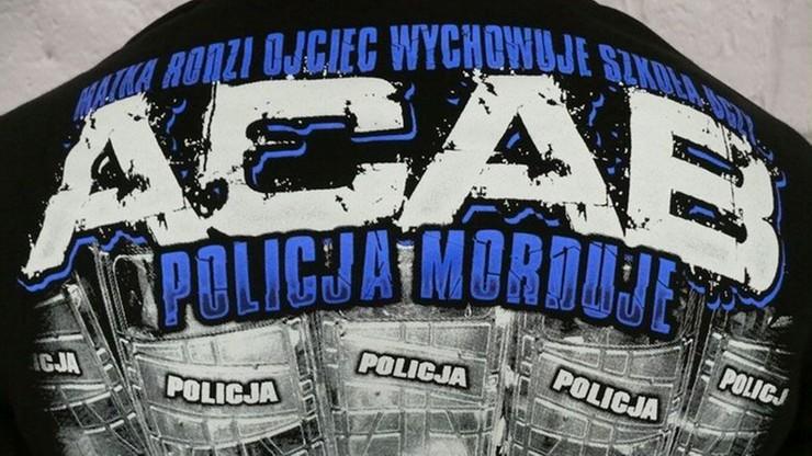 Zarzut dla producenta bluz z napisami obrażającymi policjantów