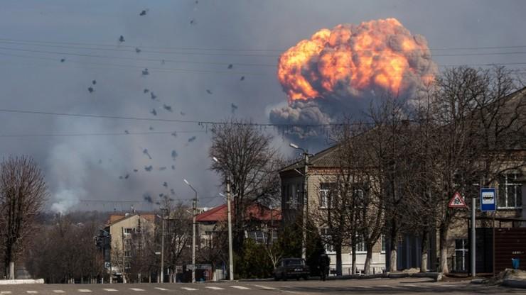 Pożar składów amunicji na Ukrainie może potrwać nawet tydzień