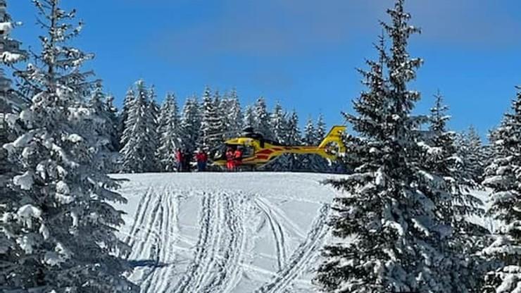 Tragiczny wypadek na trasie narciarskiej. 34-latek uderzył w drzewo