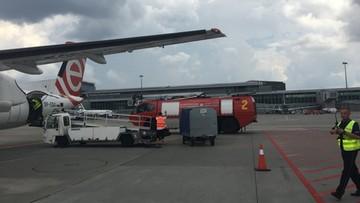 Bombardier awaryjne lądował na lotnisku Chopina. Na pokładzie było 80 osób