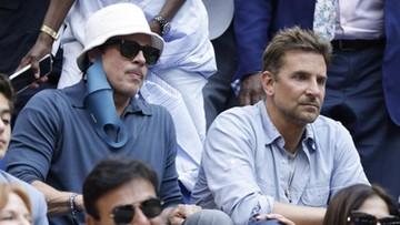 Brad Pitt, Bradley Cooper i inni! Gwiazdy Hollywood na meczu Miedwiediew - Djoković (ZDJĘCIA)