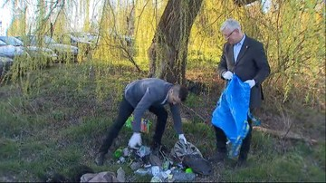 Hiszpan rzucił wyzwanie prezydentowi Poznania. Jaśkowiak sprzątał śmieci