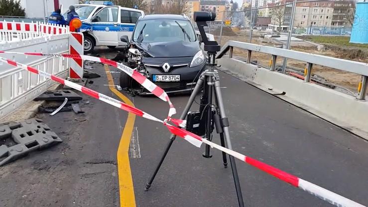 Strzelanina na moście w Słubicach. Kierowca chciał przejechać przez granicę kradzionym samochodem