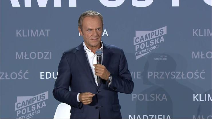 Campus Polska Przyszłości. Donald Tusk: władza przekroczyła granicę podłości