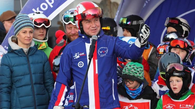 Prezydent na nartach