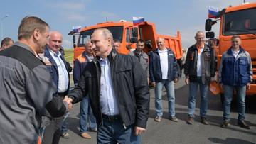 Rosja uruchomiła most na Krym. Poroszenko: przyda się do wycofania ich wojsk