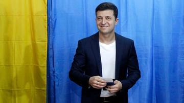 Exit poll: komik Wołodymyr Zełenski wygrał II turę wyborów prezydenckich na Ukrainie