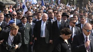 Prezydenci Polski i Izraela na Marszu Żywych. Wcześniej oddali hołd ofiarom Auschwitz