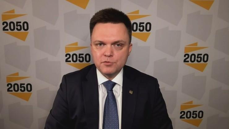 Hołownia: nie ma wspólnych planów pójścia do wyborów z PO