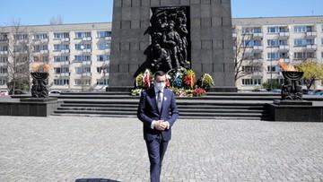 """""""Ogromna odwaga i krzyk rozpaczy"""". Premier o powstaniu w getcie warszawskim"""