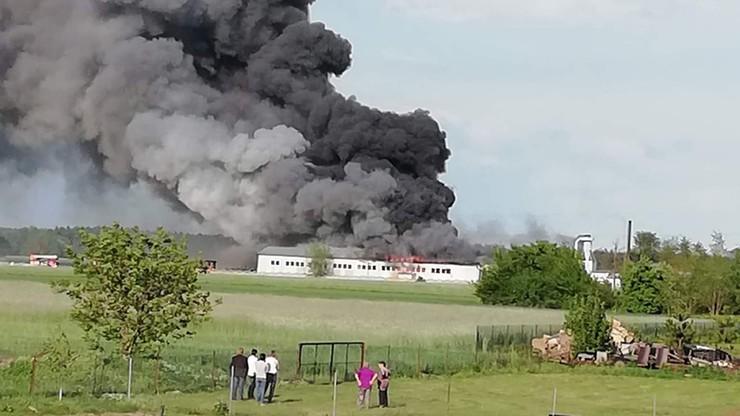Pożar tartaku w Wielkopolsce. Budynek całkowicie spłonął