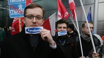 Narodowcy protestowali przed polskim oddziałem Facebooka