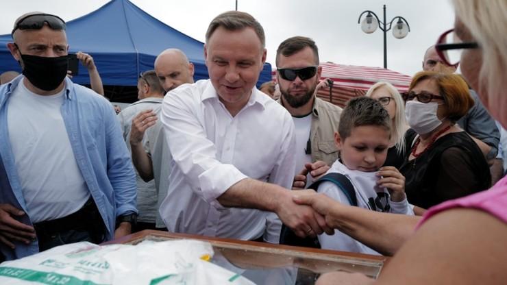 Prezydent Duda zaprezentował swoje hasło wyborcze