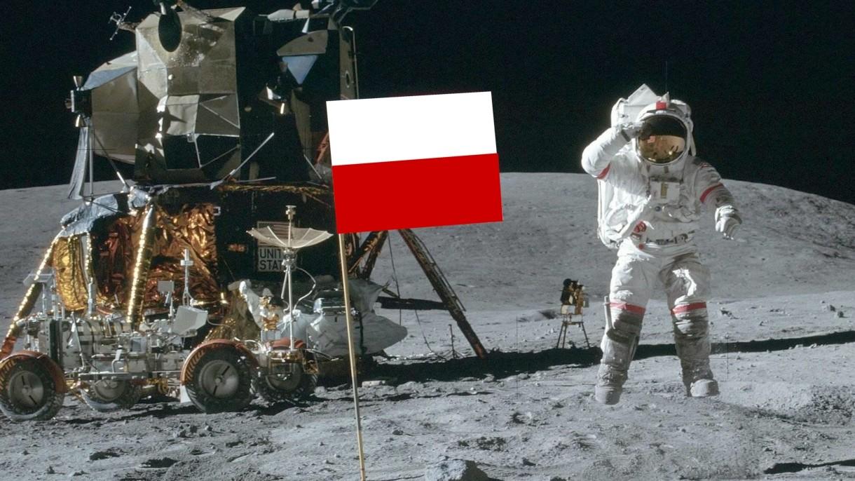 Polska flaga była na powierzchni Księżyca wraz z Neilem Armstrongiem