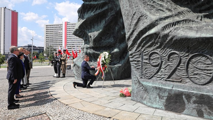 Prezydent złożył wieniec przed Pomnikiem Powstań Śląskich