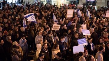Demonstracja przeciwko Netanjahu w Tel Awiwie. Żądano dymisji premiera