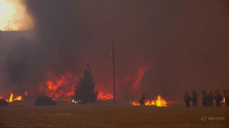 Dwa ogniska pożarów na północy Kalifornii największe w historii stanu
