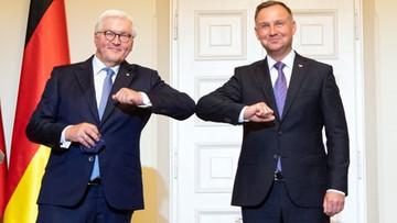 """Spotkanie prezydentów Polski i Niemiec. """"Wróćmy do dialogu o polskich stratach wojennych"""""""