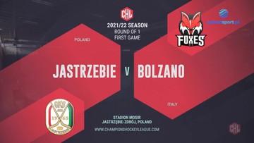 JKH GKS Jastrzębie - HC Bolzano 2:2, 0:2 (rz.k.). Skrót meczu