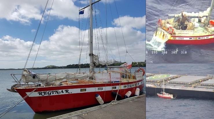 Polski żeglarz miał okrążyć świat, niedaleko Nowej Zelandii stracił ster. Jego jacht został staranowany przez frachtowiec