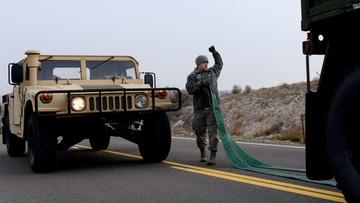 Amerykańskie pojazdy wojskowe zderzyły się na A4. Kilkukilometrowy korek na autostradzie