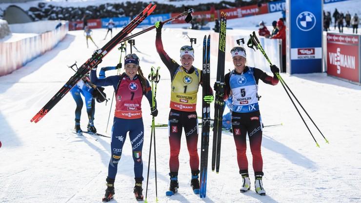 PŚ w biathlonie: Marte Olsbu Roeiseland wygrała w Hochfilzen