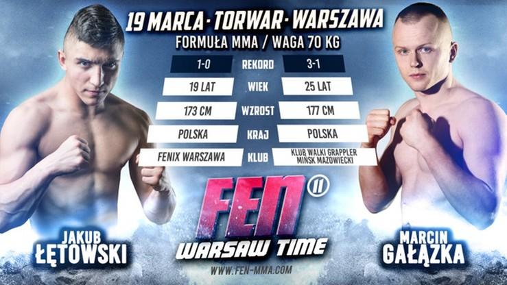 FEN 11: dwie walki MMA otworzą galę Warsaw Time